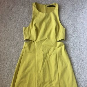 Zara light yellow dress